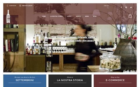 Screenshot of Home Page viasettembrini.com - Settembrini | Settembrini Libri&Cucina >Homepage - Roma - captured Dec. 2, 2016