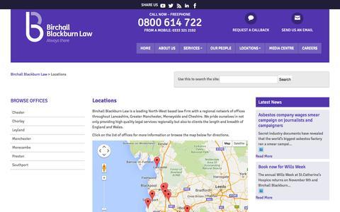 Screenshot of Locations Page birchallblackburn.co.uk - Locations | Birchall Blackburn Law - captured Feb. 7, 2016