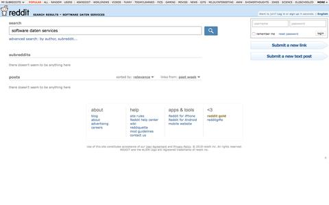 reddit.com: search results - software daten services