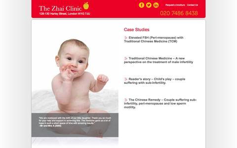 Screenshot of Case Studies Page zhaiclinic.com - Case Studies   Zhai Clinic - captured Oct. 10, 2014