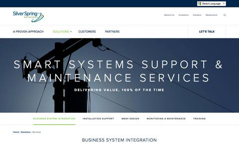 Screenshot of Services Page silverspringnet.com - Smart Systems Support & Maintenance Services - Silver Spring - captured July 3, 2016