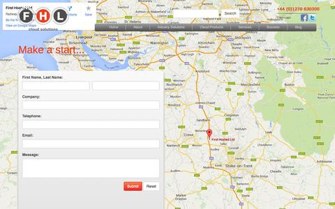 Screenshot of Contact Page fhl.co.uk - Contact First Hosted Limited - captured Sept. 19, 2014
