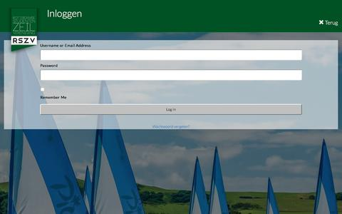 Screenshot of Login Page rszv.nl - Rotterdamse Studenten Zeilvereniging | Login - captured Nov. 2, 2017