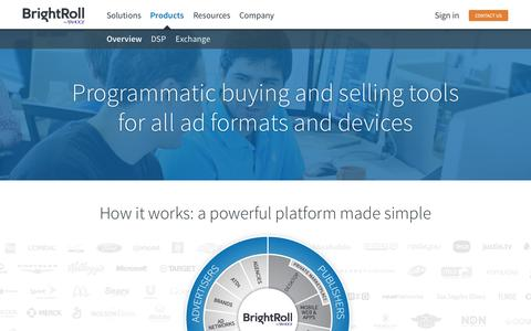 Screenshot of Products Page brightroll.com - Products | BrightRoll - captured Nov. 23, 2015