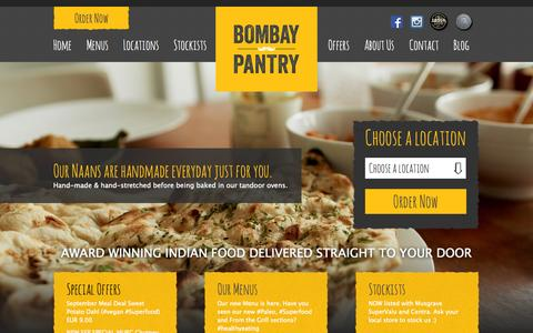 Screenshot of Home Page bombaypantry.com - Indian Takeaway Dublin - Bombay PantryBombay Pantry | Best Indian Takeaway Dublin - captured Sept. 23, 2014