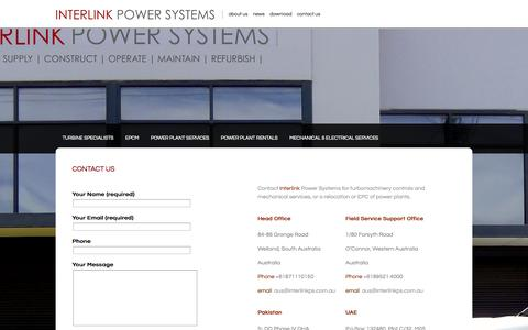 Screenshot of Contact Page interlinkps.com.au - Contact Us | Interlink Power Systems - captured Oct. 9, 2014