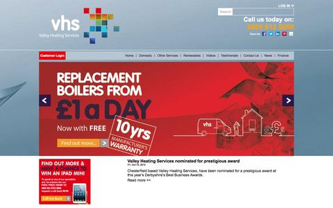 Screenshot of Press Page vhsgroup.co.uk - Current News from Valley Heating Services - captured Oct. 27, 2014