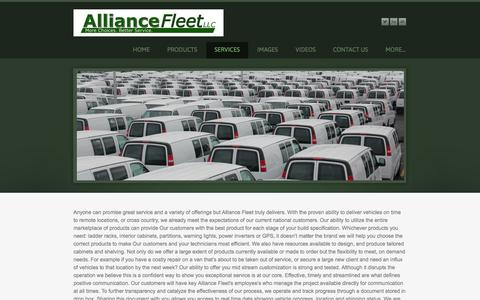 Screenshot of Services Page weebly.com - Services - Alliance Fleet, LLC - captured Sept. 17, 2014