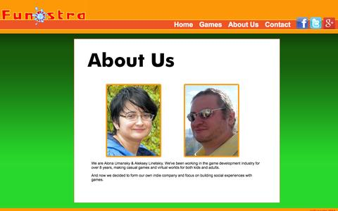 Screenshot of About Page funostra.com - Funostra - captured Sept. 30, 2014