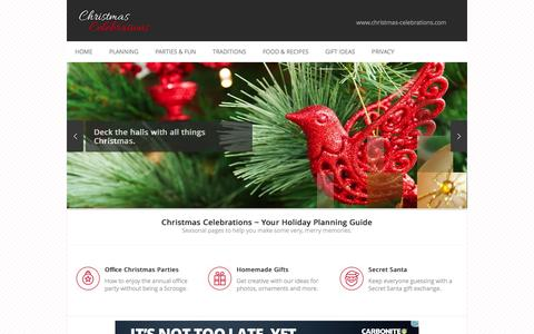 Screenshot of Home Page christmas-celebrations.com - Christmas Celebrations - captured June 14, 2016