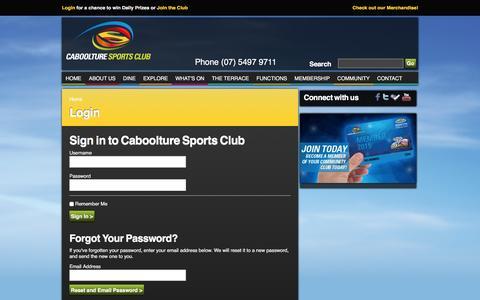 Screenshot of Login Page cabsports.com.au - Login - captured Jan. 24, 2016