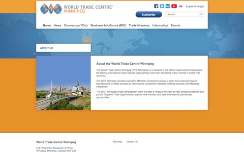 Screenshot of About Page wtcwinnipeg.com - About Us | WORLD TRADE CENTRE Winnipeg - captured Nov. 19, 2016