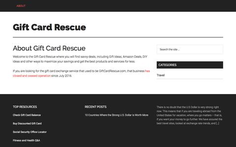 Screenshot of About Page giftcardrescue.com - About Gift Card Rescue - Gift Card Rescue - captured Jan. 14, 2018