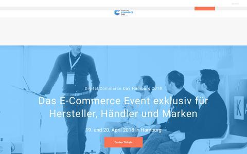 Screenshot of Home Page digital-commerce-day.de - Digital Commerce Day - Das exklusiv Event für Hersteller und Händler - captured Feb. 1, 2018