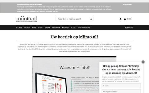 Screenshot of Signup Page miinto.nl - Kleding | Shop de nieuwste merken online in Nederlands mooiste kleding boetieks | Miinto.nl - captured June 28, 2017
