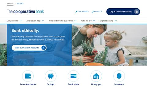 Screenshot of Home Page co-operativebank.co.uk - Personal banking | Online banking  | The Co-operative Bank - captured Sept. 21, 2018