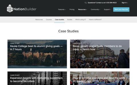 Screenshot of Case Studies Page nationbuilder.com - NationBuilder Case Studies - captured Dec. 8, 2015