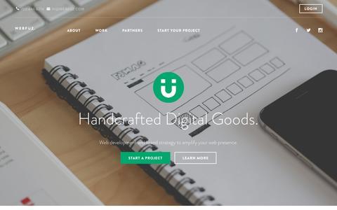 Screenshot of Home Page webfuz.com - WebFuz | Handcrafted Digital - captured March 4, 2016