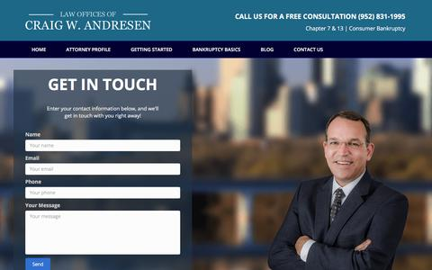 Screenshot of Contact Page andresenlaw.com - Contact Us – Andresen Law - captured Oct. 8, 2017