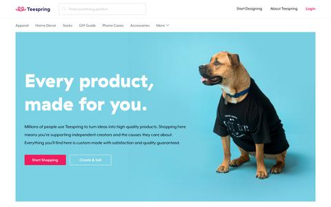Screenshot of About Page teespring.com - About Teespring / How it Works | Teespring - captured March 5, 2018