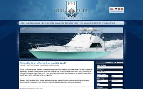 Screenshot of Home Page floridayachtsinternational.com - Florida Yachts International - captured Sept. 30, 2014
