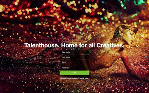 Screenshot of Signup Page talenthouse.com - Talenthouse - captured Feb. 12, 2016