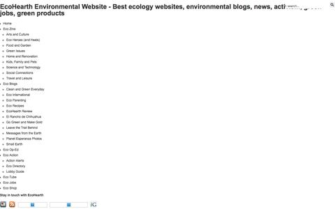 Screenshot of About Page ecohearth.com - EcoHearth - About Us - captured Dec. 7, 2015
