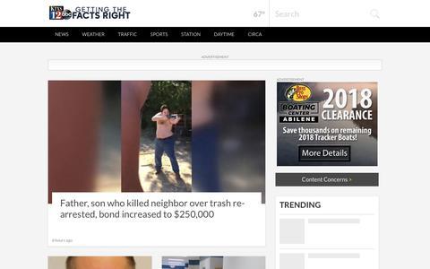 Screenshot of Home Page ktxs.com - Abilene News, Weather, Sports, Breaking News | KTXS - captured Sept. 22, 2018
