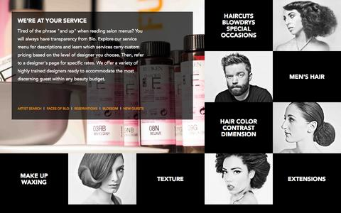 Screenshot of Services Page justblo.com - Services - Blo Salon - Best Hair Salon in Raleigh - captured Nov. 3, 2014