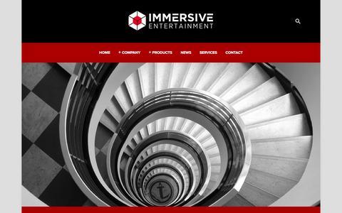 Screenshot of Team Page immersiveent.com - The Team — Immersive Entertainment - captured Feb. 10, 2016