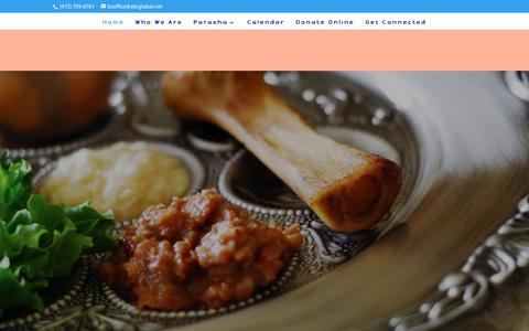 Screenshot of Home Page batzion.org - Bat Zion Messianic Congregation - captured April 8, 2017