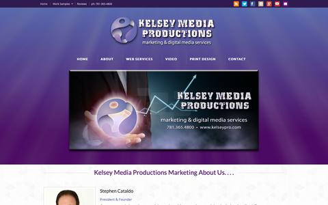 Screenshot of About Page kelseypro.com - Kelsey Media Productions | About Us.... - captured Oct. 15, 2018
