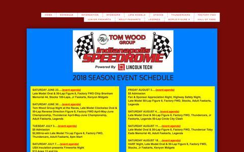 Screenshot of About Page speedrome.com - Schedule - captured June 24, 2018