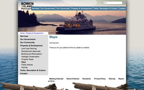 Screenshot of Maps & Directions Page bimbc.ca - Maps | Bowen Island - captured Oct. 11, 2017