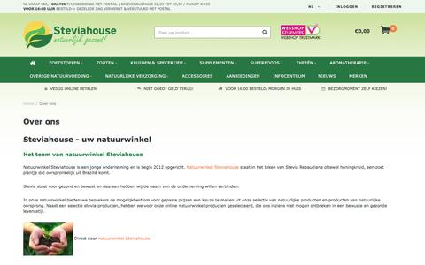 Screenshot of About Page steviahouse.nl - Over ons - Steviahouse - captured Aug. 24, 2016