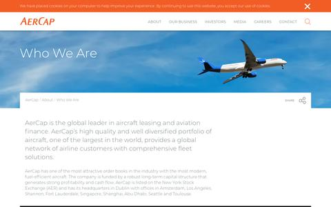 Screenshot of About Page aercap.com - Who We Are - AerCap - captured Dec. 13, 2017
