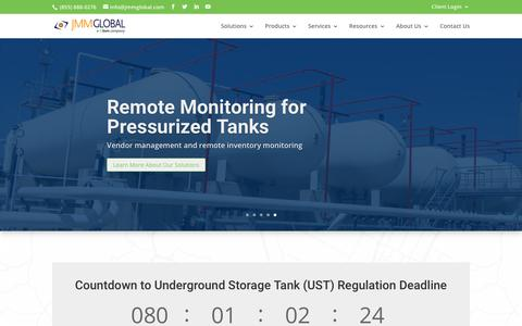 Screenshot of Home Page jmmglobal.com - JMM Global - Regulatory Complaince & Storage Tank Management - captured July 26, 2018