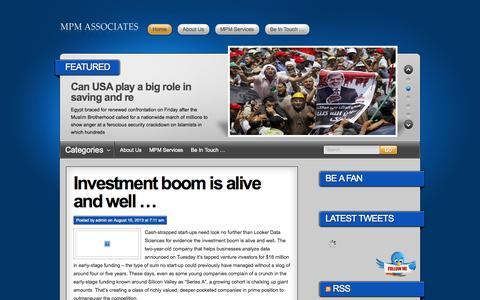 Screenshot of Blog mpmassociates.com - MPM Blog - Driving Performance – Getting Results - captured Oct. 4, 2014