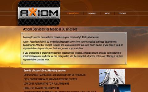 Screenshot of Home Page axiomassociates.com - AXiOM Associates Personalized Medicine in Las Vegas, Nevada - captured Oct. 4, 2014