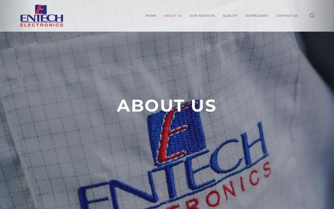Screenshot of About Page entechelectronics.com.au - About Us – Entech Electronics - captured July 19, 2018