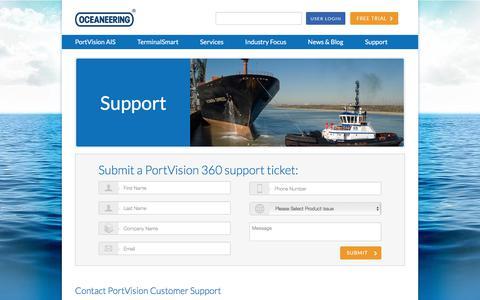 Screenshot of Support Page portvision.com - Support - Portvision - captured July 20, 2018