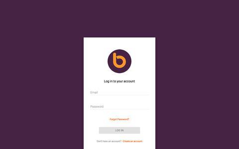 Screenshot of Login Page bontact.com - Bontact - Dashboard - captured June 2, 2017