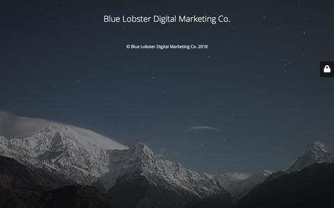 Screenshot of Home Page bluelobsterdigital.ca - Website is under construction - captured July 12, 2018