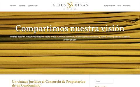 Screenshot of Blog aliesrivas.com - Blog - Alies Rivas Consultores : Alies Rivas Consultores - captured Oct. 4, 2014