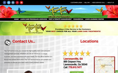 Screenshot of Contact Page topturf.net - Top Turf/Contact Us - Top Turf - captured Nov. 8, 2017