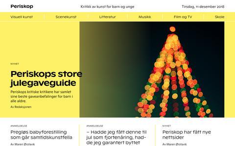Screenshot of Home Page periskop.no - Start page - Periskop - captured Dec. 11, 2018