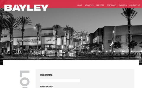 Screenshot of Login Page bayley.net - Log In - Bayley Construction - captured Nov. 22, 2016