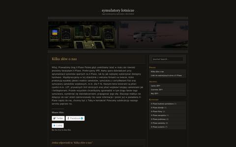 Screenshot of About Page wordpress.com - Kilka słów o nas | Symulatory Lotnicze - captured Sept. 12, 2014