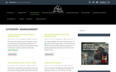 Screenshot of Team Page mba-tutorials.com - Management   MBA Tutorials - captured July 25, 2018