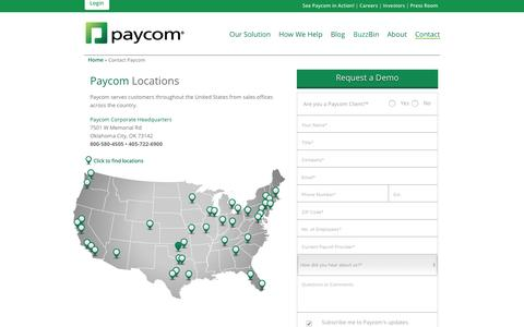 Paycom | Contact Us